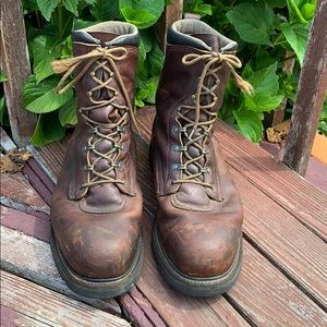 Red Wing 13E Work Boots 2264 Wide Steel Toe